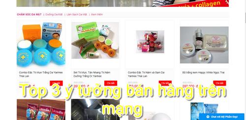 Top 3 ý tưởng bán hàng trên mạng