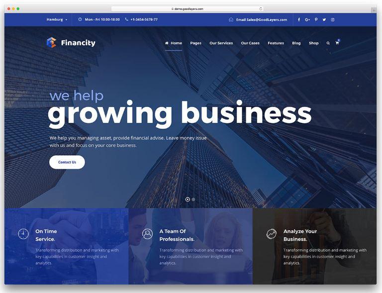 Mẫu website doanh nghiệp tài chính - Financity
