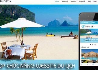 Tổng hợp các chức năng cần có của website du lịch.