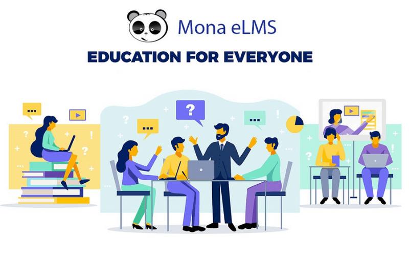 phần mềm dạy học online Mona elms