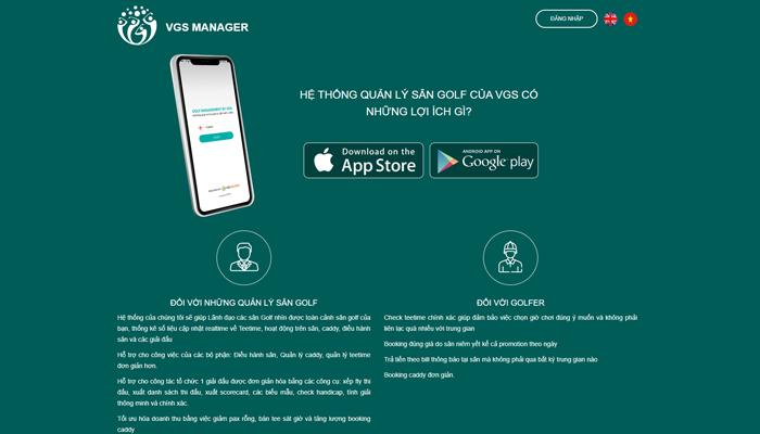 Phần mềm quản lý dịch vụ sân golf - VGS Manager